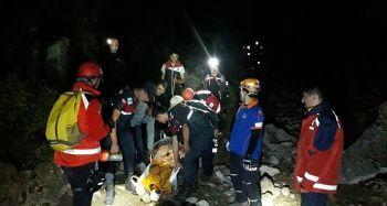Dağda mahsur kalan vatandaş 5 saat süren operasyonla kurtarıldı