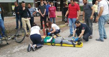 Elektrikli bisikletin çarptığı genç kız yaralandı