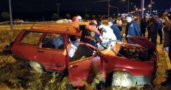 Sivas'ta trafik kazası: 1 ölü, 3 ağır yaralı