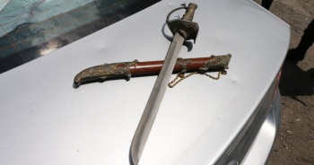 Uygulamada kılıç ele geçirildi
