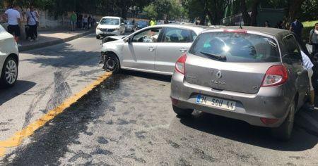 Beşiktaş'ta feci kaza: 1'i ağır 2 yaralı