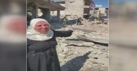 İdlibli kadının yardım çığlığı: 'Trump, bunları durdur'