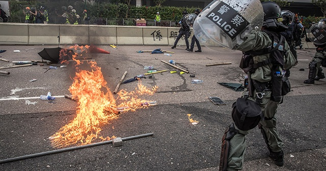"Hong Konglu protestocular: ""Ya istiklal ya ölüm"""