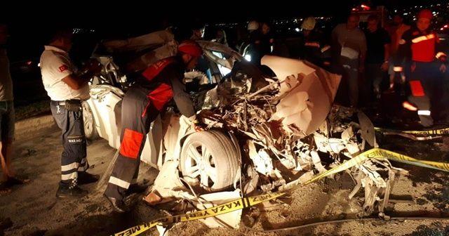 Hurdaya dönen otomobil sürücüsü hayatını kaybetti