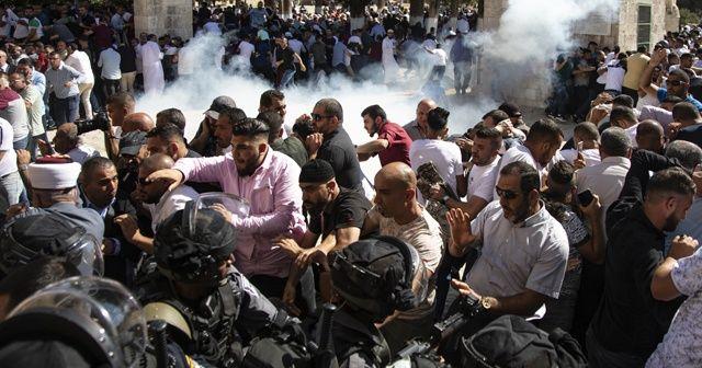 İsrail polisinden Filistinlilere Harem-i Şerif'de müdahale