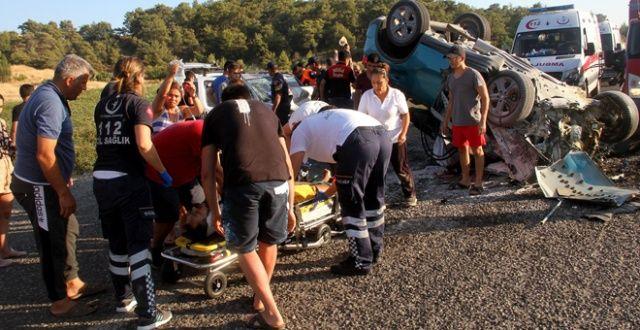 Kazada ağır yaralanan sürücü kurtarılamadı