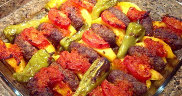 Köfte patates, fırında köfte patates tarifi