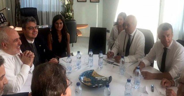 Macron, İran Dışişleri Bakanı Zarif ile görüştü