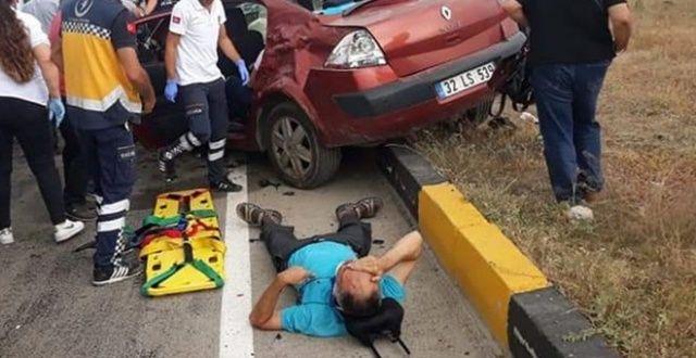 Otomobille cip çarpıştı! Ortalık savaş alanına döndü