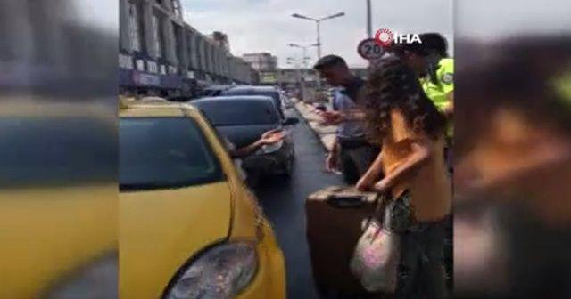 Polise rağmen taksiye yolcu almadılar!