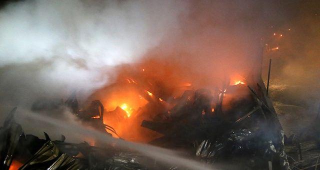 Şanlıurfa'daki iş yeri yangını