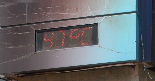 Sıcak hava dalgası nefes aldırmıyor: Termometre 47 dereceyi gördü