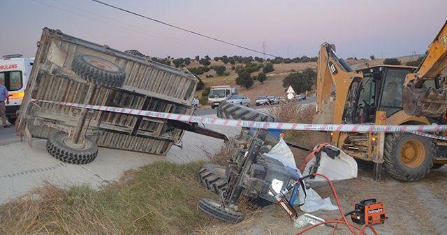 Traktör devrilmesi sonucu 1 kişi hayatını kaybetti
