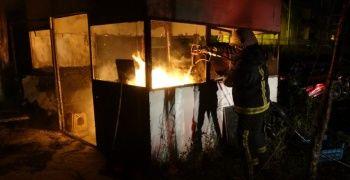 500 aracın bulunduğu otoparkın deposu alev alev yandı