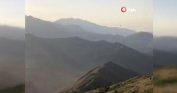 8 teröristin etkisiz hale getirildiği operasyon kamerada