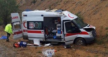 Ambulans devrildi! Çok sayıda yaralı var!