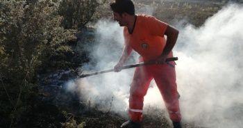 Bingöl'de yangın ormana sıçramadan söndürüldü