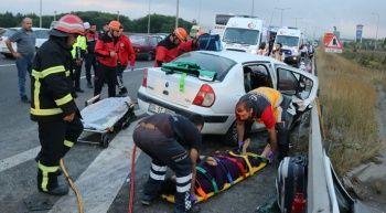 Bolu'da feci kaza,  2'si çocuk 13 yaralı var