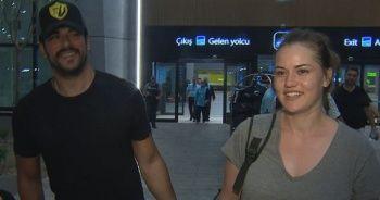 Fahriye Evcen ve Burak Özçivit çifti tatilden döndü!