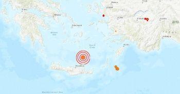 Girit açıklarında deprem