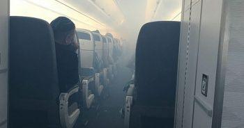 İçerisi dumanla dolan yolcu uçağı acil iniş yaptı: 7 yaralı
