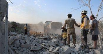 İdlib'e yönelik hava saldırılarında 2 çocuk hayatını kaybetti