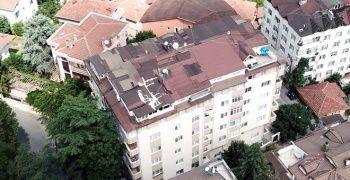 İki ana kolunu patlayan bina havadan görüntülendi