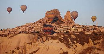 Kapadokya'da sıcak hava balon turları iptal edildi