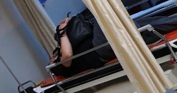 Kazada yaralandı, içinde ziynet eşyası bulunan çantayı elinden bırakmadı