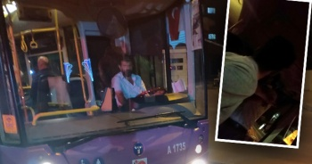 Otobüs şoförü tartıştığı yolcunun üzerine yürüdü