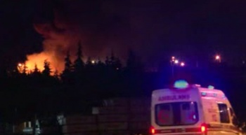 Tuzla'da boya fabrikasında yangın