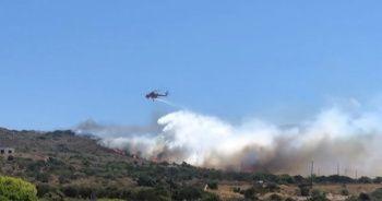Yunanistan'da adadaki yangın sürüyor