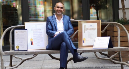 ABD'deki Türk pizzacıya 'Yılın en başarılı insanı' ödülü