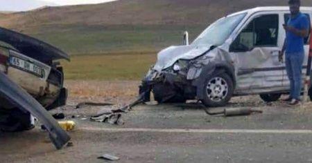 Ağrı'da yürek burkan kaza