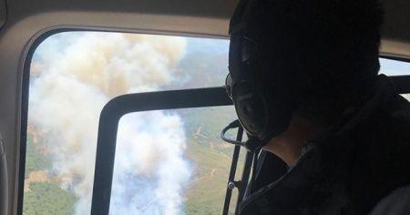 Bakan Pakdemirli İzmir'de yangın bölgesinde