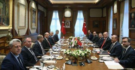 Cumhurbaşkanı Erdoğan KKTC Başbakanı Ersin Tatar'ı kabul etti