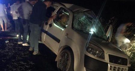 Diyarbakır'da ticari araç şarampole devrildi, 5 kişi yaralandı