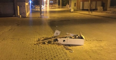 Kaçağı önleyen panolar tahrip edildi