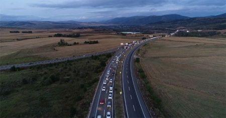 Karadeniz bağlantı yolunda trafik yoğunluğu
