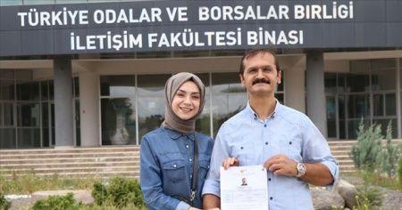 Kızının izinden giden babanın üniversite heyecanı