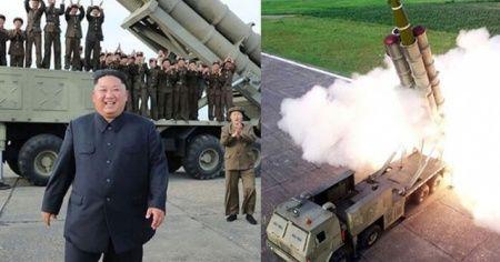 Kuzey Kore yeni 'süper büyük' çoklu füze fırlatma sistemini denedi