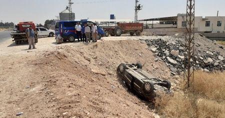 Otomobil şarampole yuvarlandı: 5'i çocuk 8 yaralı