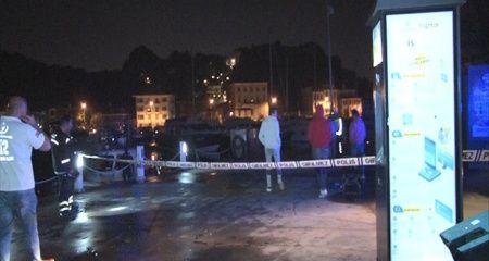 Tarabya Sahilinde denize minibüs düştü, 6 kişi yaralandı