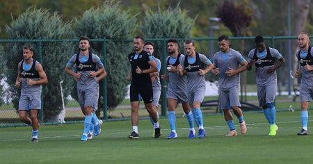 Trabzonspor'da AEK maçı hazırlıkları başladı