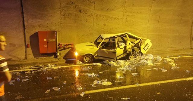 Araklı Tüneli içinde kaza: 3 yaralı