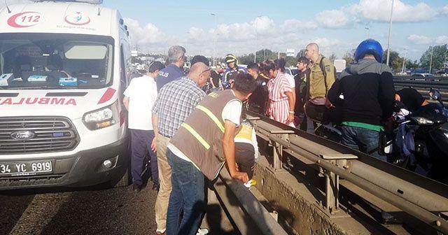 Avcılar'da trafiği kilitleyen kaza
