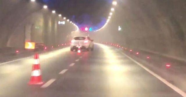 Avrasya Tüneli'nde dubalara 'makas' atan maganda yakalandı
