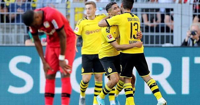 Borussia Dortmund Bayer Leverkusen'i 4 golle geçti