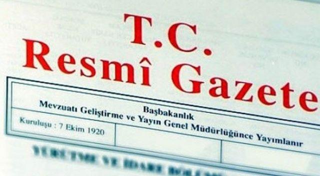 Cumhurbaşkanı atamaları Resmi Gazete'de