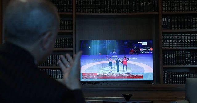 Cumhurbaşkanı Erdoğan büyük zaferi böyle izledi!